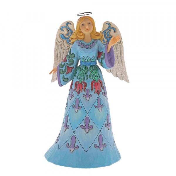 Heartwood Creek, Jim Shore, Touched with Wonder Angel, Engel, Winter Wonderland Blue Angel, 6001422