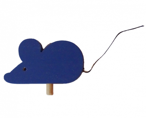 Sebastian Design, Candlering, Kerzenring, Kerzeringe, Holzkränze, Skandinavischer Holzkranz, Skandinavische Kerzenringe, Maus in blau