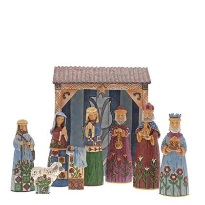 Heartwood Creek, Jim Shore, Folklore Weihnachtskrippe, Nativity