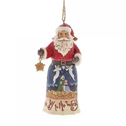 Heartwood Creek, Jim Shore, Joy To The World Santa Ornament, Weihnachtsmann, Anhänger