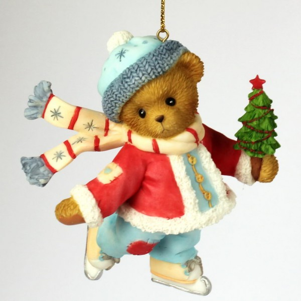 Cherished Teddies, Skating Bear Ornament