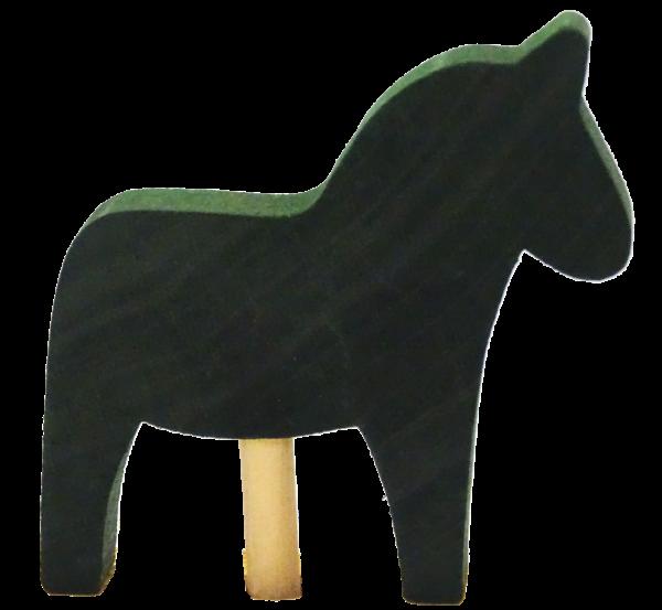 Sebastian Design, Candlering, Kerzenring, Kerzenringe, Skandinavischer Holzkranz, Skandinavische Kerzenringe, Pferd, grün, grünes Pferd, 46-599-143
