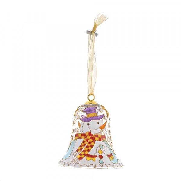 Enesco's Treasury of Ornaments, Snowman, Schneemann, Anhänger, Glocke, handbemalt, mundgeblasen