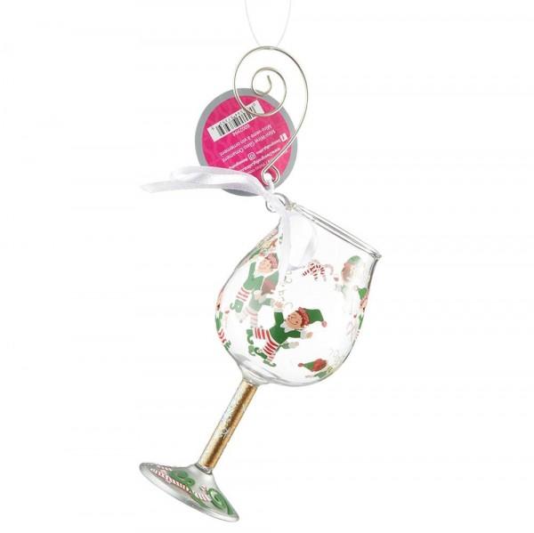 Lolita Glas, Lolita Gläser, Lolita Weinglas, Lolita Weingläser, Tipsy Elf Ornament, Anhänger, 6002994