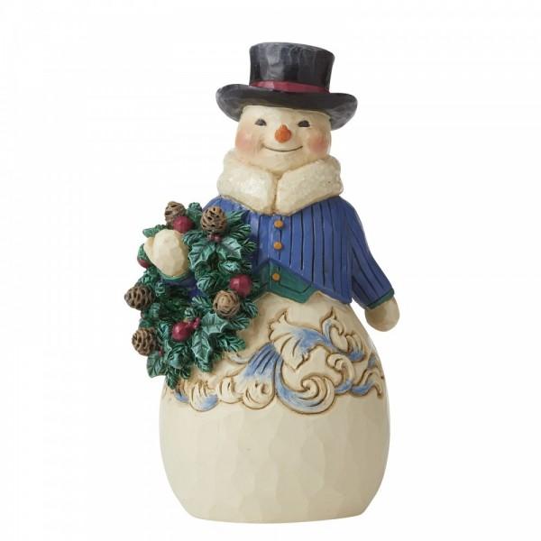 Heartwood Creek, Jim Shore, Right Hearty Winter Wishes, Snowman, Simple Snowman Figurine, Richtig herzliche Winterwünsche, Schneemann