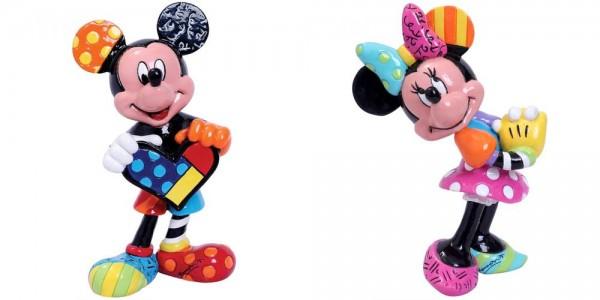 Romero Britto, Pop-Art aus Miami, Mickey and Minnie Mini Figurines