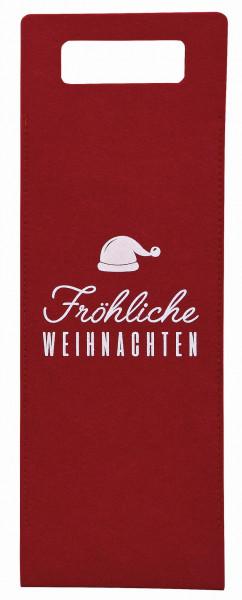 Lolita Gläser, Lolita Weingläser, Flaschentasche, Geschenktasche Filztasche, Fröhliche Weihnachten, 10029071