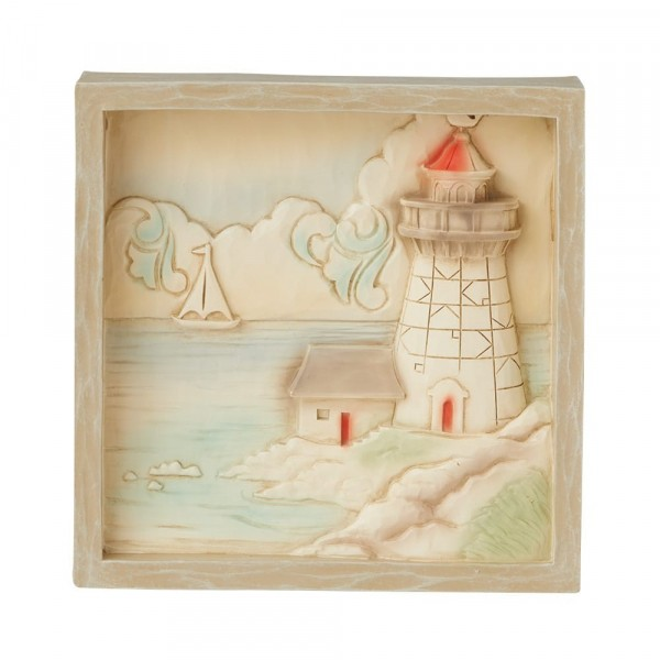 Jim Shore, Heartwood Creek, Jim Shore, Lighthouse Plaque, Bild mit Leuchtturm, 6009344, Volkskunst