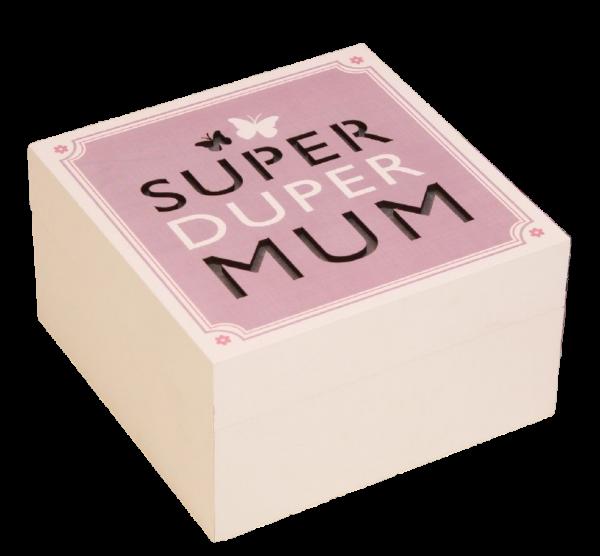 Widdop, Super Duper Mum Schatzkästchen, beleuchtetes Schatzkästchen, beleuchtetes Schmuckkästchen, Muttertagsgeschenk, Muttertag, FW567