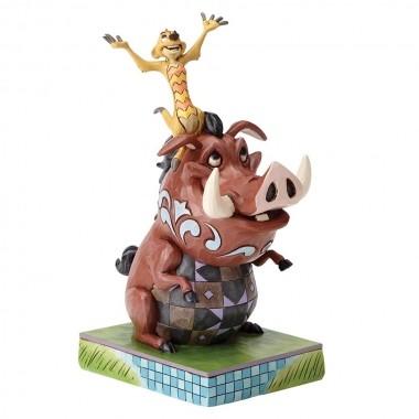 Disney Traditions, Jim Shore - Carefree Chorts, Hakuna Matata - TImon & Pumbaa / The Lion King, König der Löwen
