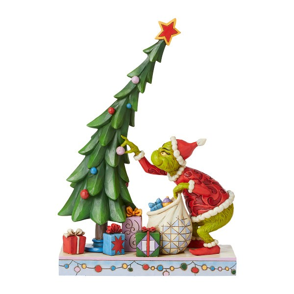Jim Shore, Heartwood Creek, The Grinch Collection, Grinch, Grinch Undecorating the Tree, Grinch schmückt den Baum ab, 6008886, The Grinch by Jim Shore, Dr. Seuss
