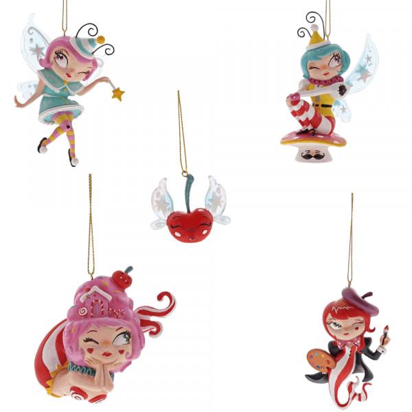 Lolita Weinglas 4 Ornamente / Weihnachtsanhänger