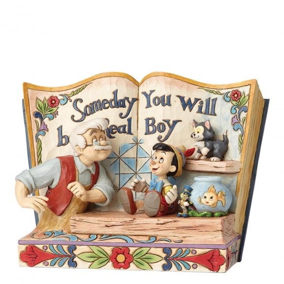 DIsney Traditions, Jim Shore - Someday You Will Be A Real Boy Storybook - Pinocchio