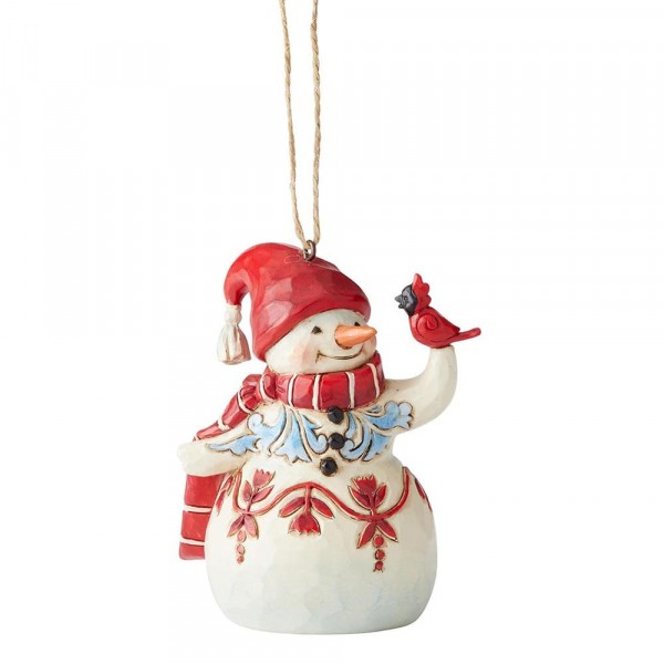 Heartwood Creek, Jim Shore, Mini Red & White Snowman, Schneemann, Ornament, Anhänger