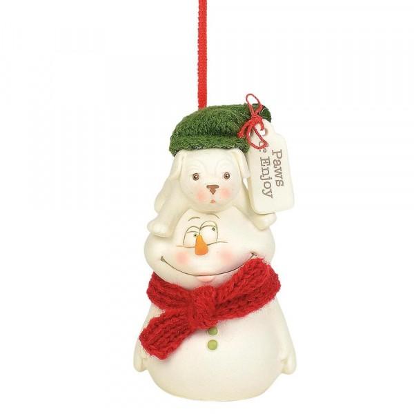 Kristi Jensen Piero, Snowpinions, Snowbabies, Department 56, Schneemann, Ornament, Anhänger, Paws & Enjoy, 6004258