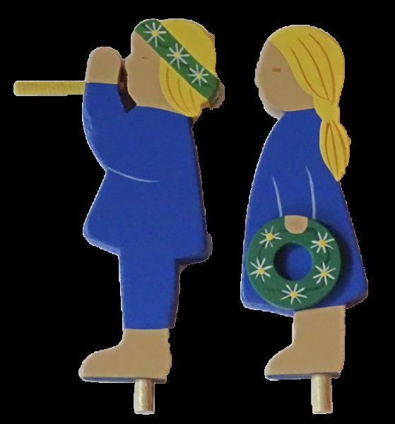 Sebastian Design, Candlering, Kerzenring, Kerzeringe, Holzkränze, Skandinavischer Holzkranz, Skandinavische Kerzenringe, Sommerkinder in blau