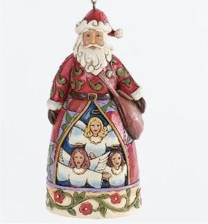 Heartwood Creek, Jim Shore, Hark, The Herald Angels Sing Ornament, Weihnachtsmann, Anhänger
