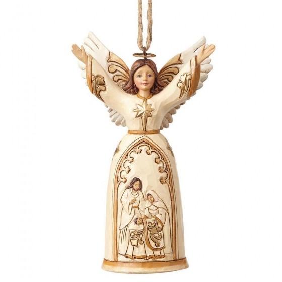 Heartwood Creek, Jim Shore, Ivory & Gold Nativity Angel, Engel, Anhänger, Ornament