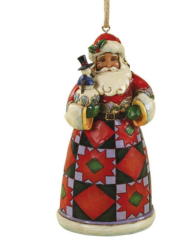 Santa With Toys Bag & Snowman