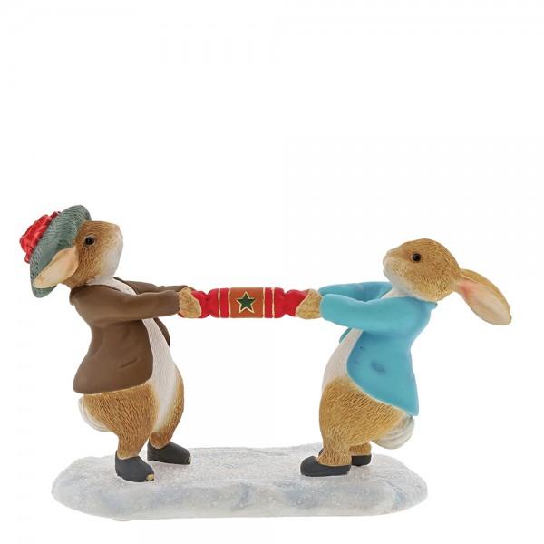 Beatrix Potter, Beatrix Potter Collection, Peter Rabbit, Benjamin Bunny, Flopsy, Jemima Puddle-Duck, Jeremy Fisher, A30180, Peter Rabbit and Benjamin Pulling a Cracker