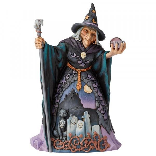 Heartwood Creek, Jim Shore, Evil Witch with Crystal, Böse Hexe mit Kristallkugel, Halloween