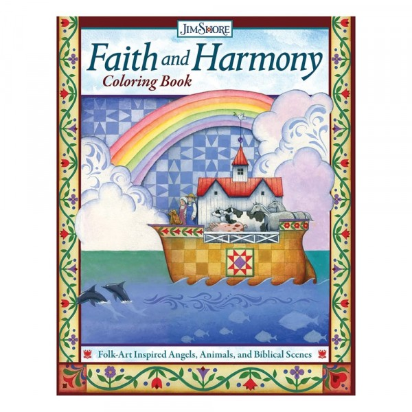 Jim Shore, Heartwood Creek, Jim Shore Weihnachten, DO6049, Faith and Harmony Colouring Book, Glaube und Harmonie, Malbuch