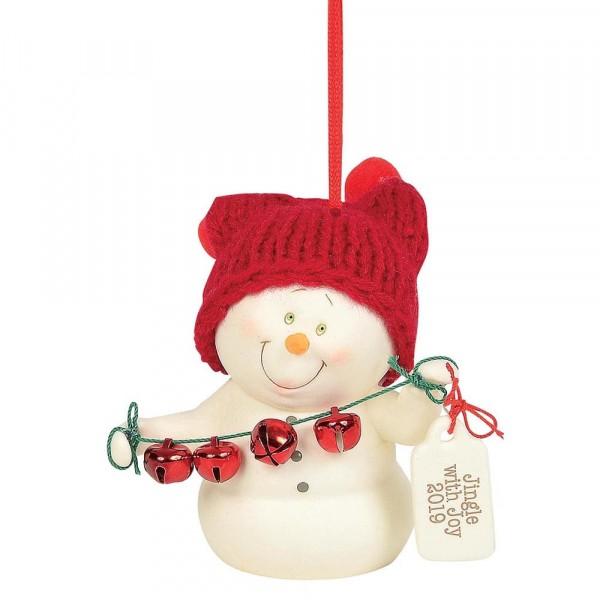 Kristi Jensen Piero, Snowpinions, Snowbabies, Department 56, Schneemann, Ornament, Anhänger, Jingle With Joy, 6004334