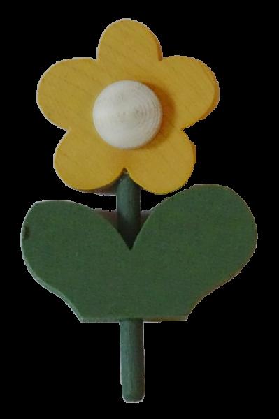 Sebastian Design, Kerzenring, Kerzenringe, Holzkränze, Candlering, skandinavische Kerzenringe, Blume mit Blatt, gelb