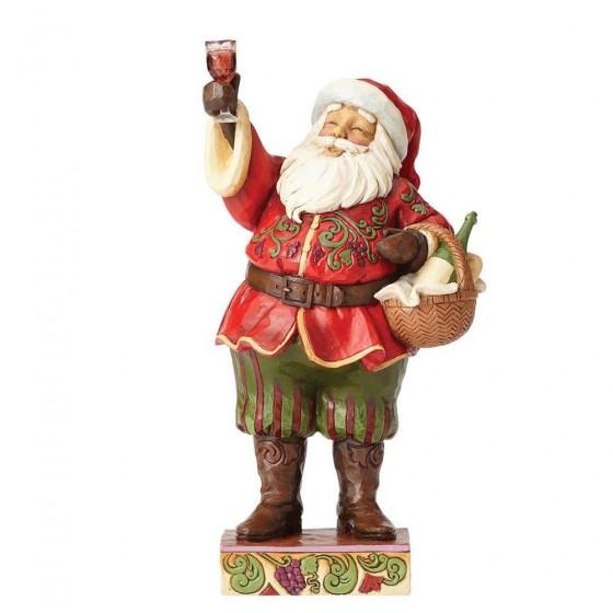 Heartwood Creek, Jim Shore, Toasting Traditions Santa, Weihnachtsmann mit Wein