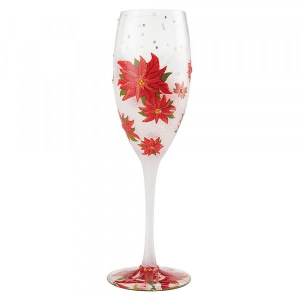 Lolita Weinglas, Lolita Weingläser, Lolita Gläser, Lolita Prosecco Glas, Lolita Sektglas, Poinsettias In The Snow, Weihnachtssterne im Schnee