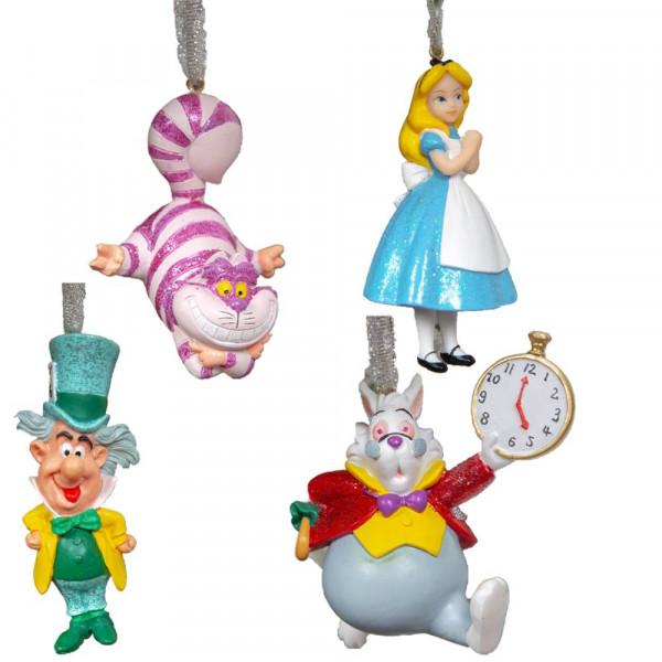 Widdop, Disney by Widdop, DIsney Classic, Walt Disney Disneyfigur, Disney Figur, Alice im Wunderland, Alice in Wonderland Weihnachtsschmuck, Anhänger, Tannenbaumanhänger, Weihnachtsanhänger, XM8654