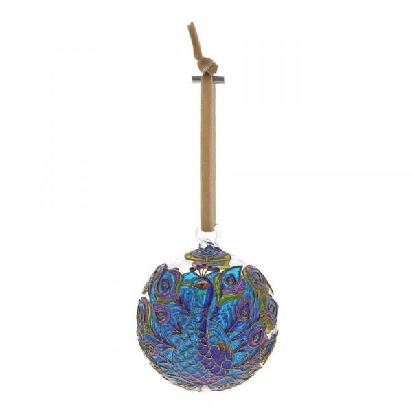 Enesco's Treasury of Ornaments, handbemalt, mundgeblasen, Peacock, Pfau, Glaskugel