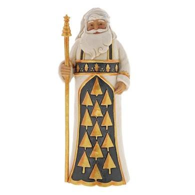 Heartwood Creek, Jim Shore, Black & Gold, Season So Splendid Santa, Weihnachtsmann, 6001434