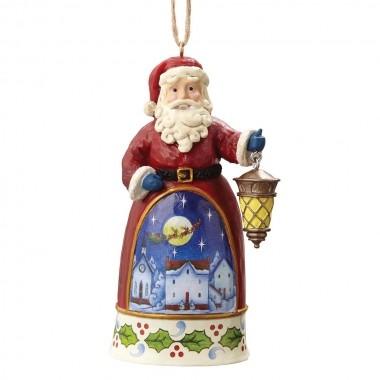 Heartwood Creek, Jim Shore, Santa with Lantern Ornament, Weihnachtsmann mit Laterne, Anhänger