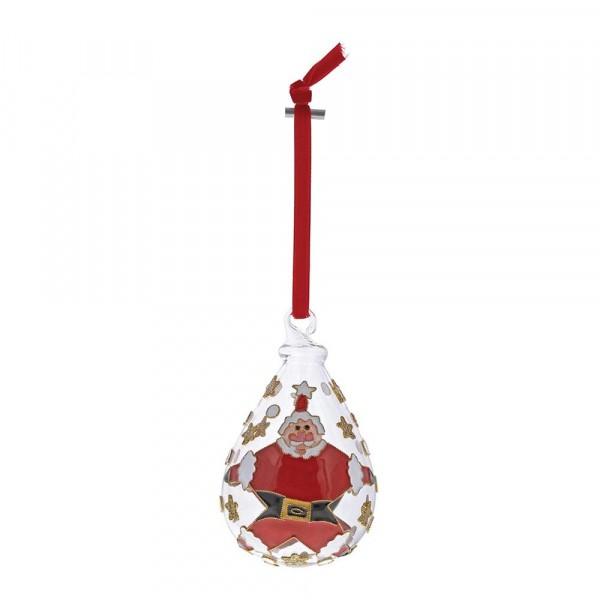 Enesco's Treasury of Ornaments, handbemalt, mundgeblasen, Santa, Weihnachtsmann, Anhänger, Weihnachtsanhänger