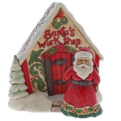 Heartwood Creek, Jim Shore, Santa and Toy Shop Gift Set, Weihnachtsmann Geschenkset