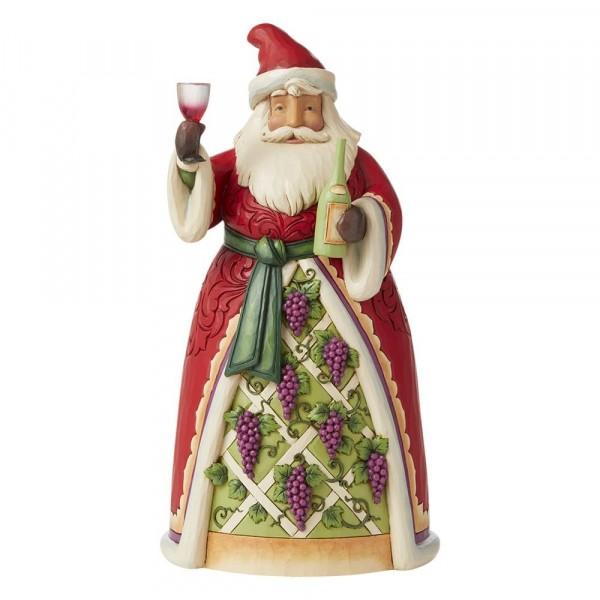 Jim Shore, Heartwood Creek, Jim Shore Weihnachten, 6008882, Wine Santa, Weihnachtsmann mit Wein, Jim Shore Santa, Jim Shore Weihnachtsmann, Heartwood Creek Santa, Heartwood Creek Weihnachtsmann