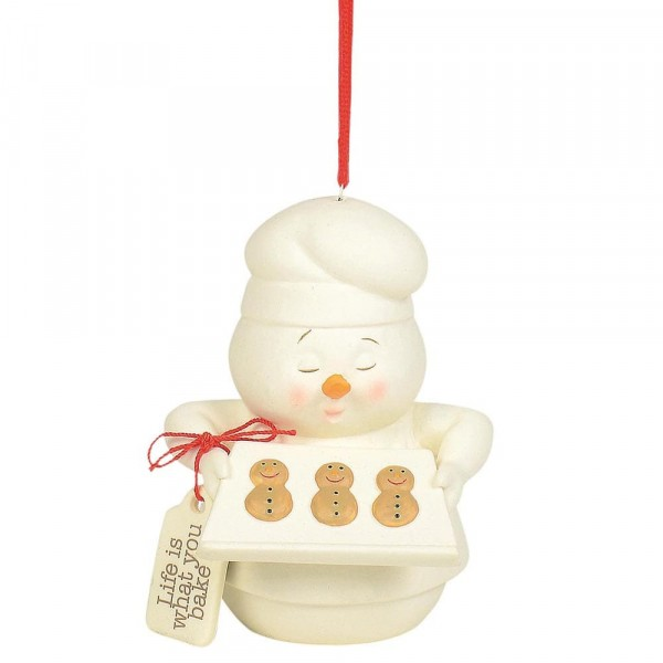 Kristi Jensen Piero, Snowpinions, Snowbabies, Department 56, Schneemann, Ornament, Anhänger, Life is What You Bake It, 6004250