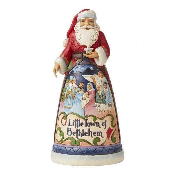 Jim Shore, Heartwood Creek, Jim Shore Weihnachten, 6008873, Oh Little Town of Bethlehem Song Santa, Jim Shore Weihnachtsmann, Jim Shore Santa, Heartwood Creek Santa, Heartwood Creek Weihnachtsmann