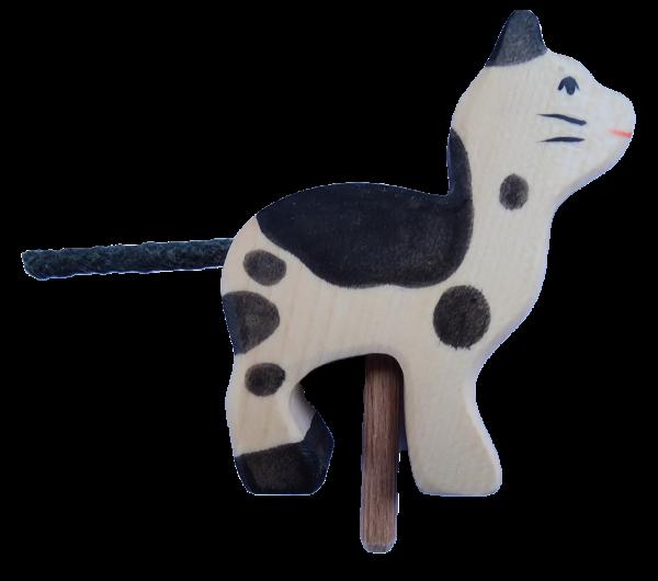 Sebastian Design, skandinavische Kerzenringe, Kerzenring, Kerzenringe, Candlerings, Steckfigur, Katze, weiß-schwarze Katze, HK-80540