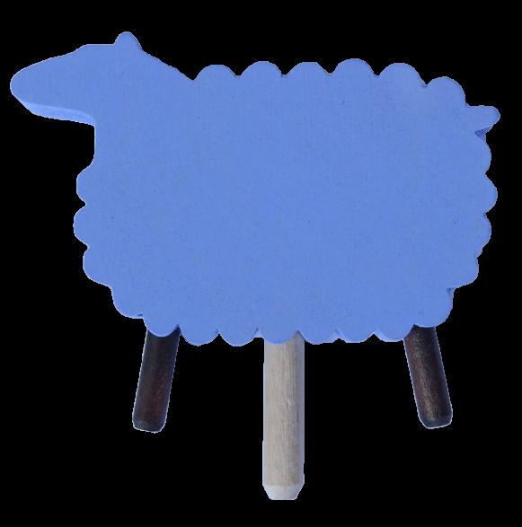 Sebastian Design, Candlering, Kerzenring, Skandinavischer Holzkranz, Skandinavische Kerzenringe, Schaf, hellblaues Schaf, 46-575-131