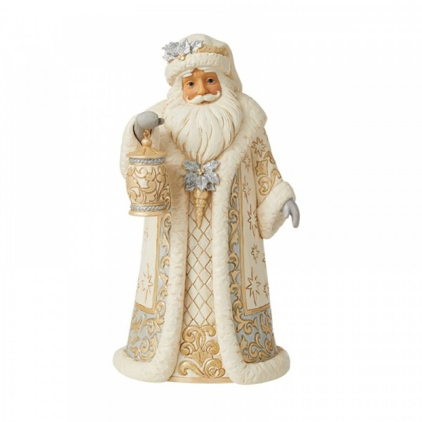 Jim Shore, Heartwood Creek, Jim Shore Weihnachten, Holiday Lustre Collection. 6009396, Holiday Lustre Santa with lantern, Jim Shore Weihnachtsmann, Jim Shore Santa