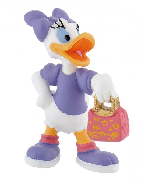 Bullyland, Micky Maus, Mickey Mouse, Daisy, Daisy mit Tasche, Walt Disney, 15343