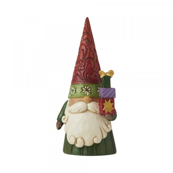 Jim Shore, Heartwood Creek, Jim Shore Gnome, Heartwood Creek Gnomes, Jim Shore Wichtel, 6009183, Weihachtswichtel mit Geschenken, Christmas Gnome Holding Gifts