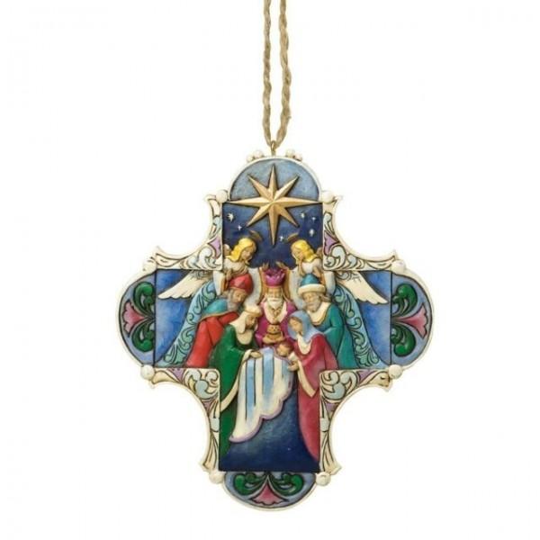 Heartwood Creek, Jim Shore, Nativity Cross Ornament, Anhänger. 4034418, Jim Shore Weihnachten