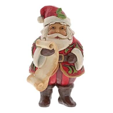 Heartwood Creek, Jim Shore, Mini Santa with List, Weihnachtsmann