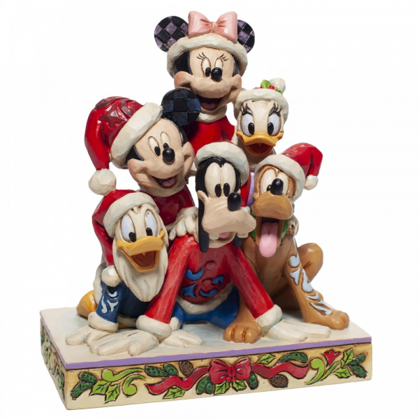 Disney Traditions , Jim Shore, Piled High with Holiday Cheer, Mickey and Friends, Disneyfigur, Disney Figur, Folkart, Volkskunst, 6007063
