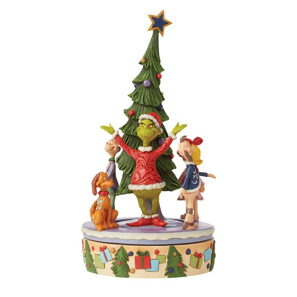 Jim Shore, Heartwood Creek, The Grinch Collection, Grinch, Grinch Rotator Figurine, Grinch Drehtellerfigur, 6008885, The Grinch by Jim Shore