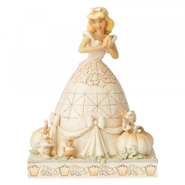 DIsney Traditions, Jim Shore, Darling Dreamer Cinderella - Lieblicher Träumer / White Woodland
