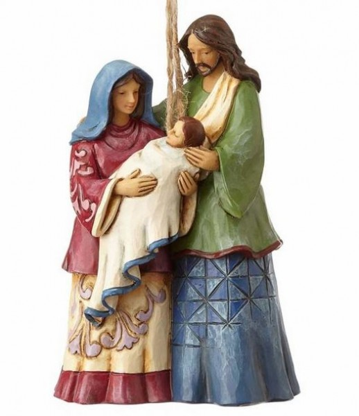 Heartwood Creek, Jim Shore, Holy Family Ornament, Heilige Familie, Anhänger